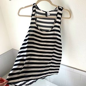 Divided by H&M black and white tank